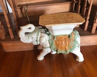 Ceramic elephant table