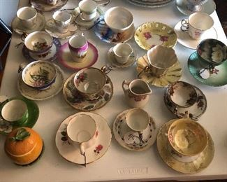 Tea cup and saucer collection