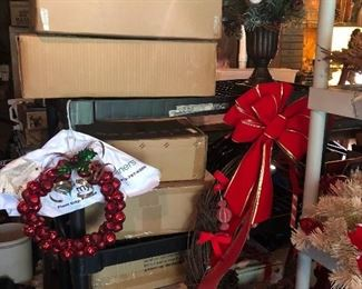 Boxes of wreaths