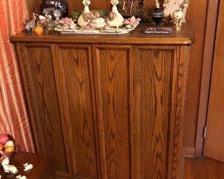 Oak storage cabinet