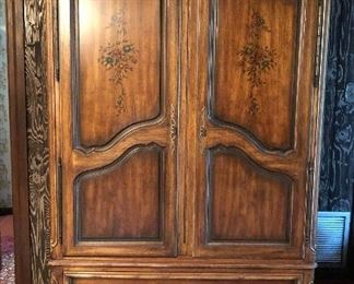 Drexel Heritage bedroom armoire.  Matching dresser/mirror, nite stand, canopy bed