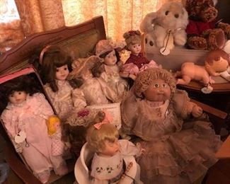 Collection of some of the dolls
