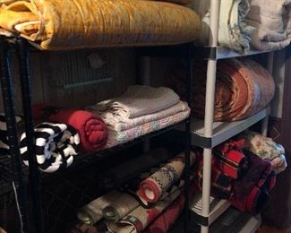 Some of the blankets, rugs, comforters