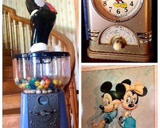 Collectible Mickey and Minnie Mouse