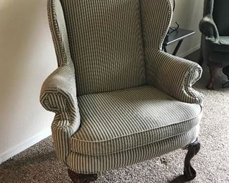 Schnadig wing back chair