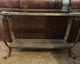 Metal & glass sofa table