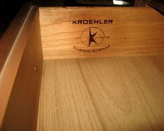 Kroehler brand bedroom furniture