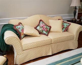 Drexel Furniture Co. camel back sofa