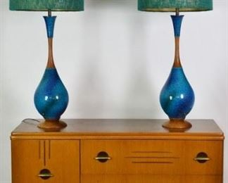 Mid Century Modern Large Table Lamps