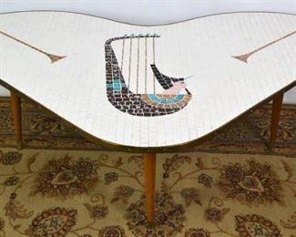 1960's Mid Century Modern Mosaic Coffee Table