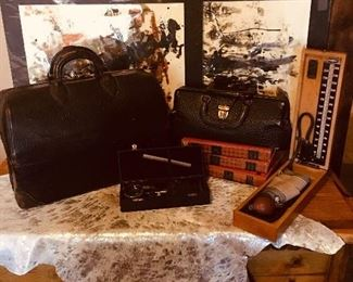 Antique Doctor bags and equipment