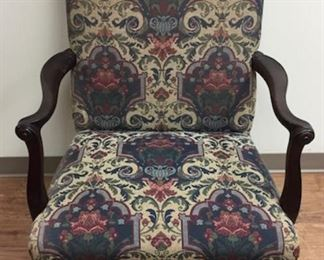 Antique Chippendale Arm Chair Hairy Paws & Scrolled Arms.