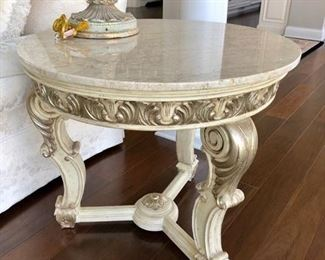 Pretty marble topped table