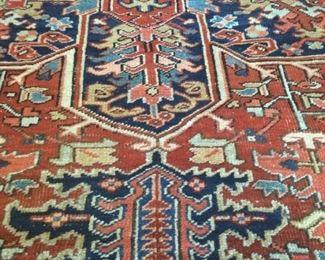 Vintage 7 1/2 x 9 1/2 Turkish Wool Rug