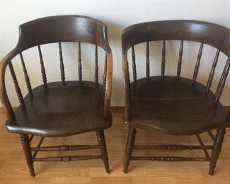 4 Antique Captain's Chairs