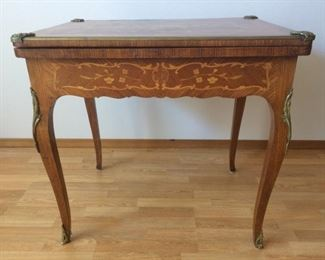 Louis XV Style Game Table w/ Some WWI Game Pieces