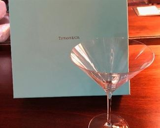 New-Tiffany & Co. boxed set of 2 martini glasses
