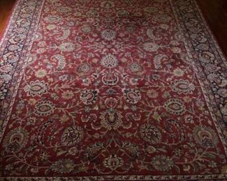 Big beautiful Chinese silk rug.