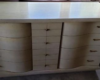 Mid century dresser with curved drawers