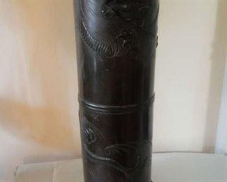Large Antique Chinese Bronze Dragon Vessel