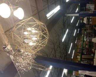 These 2 chandeliers are available!! They are expensive floor models and are truly gorgeous! They retail for over 1k each.