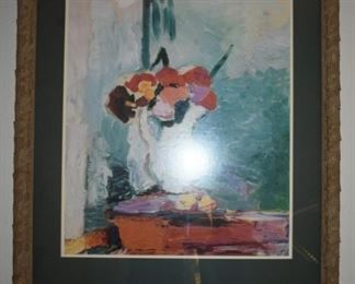 Reproduction Matisse in lovely frame