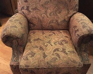 Reclining upholstered arm chair
