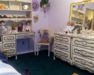 Mid Century French Provencial Girls Bedroom Set