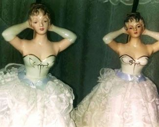 Vintage Boudoir Wedding Lady Table Lamps. Rare Find.
