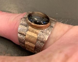 Mans Silver & Gold ring