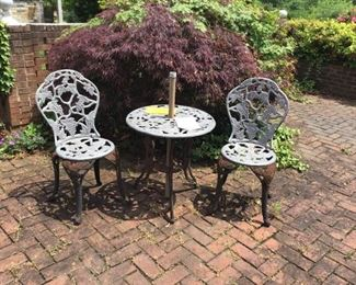Garden Table and Two Chairs  https://ctbids.com/#!/description/share/156046