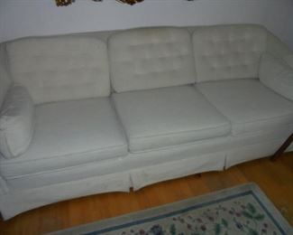 7' long off white couch