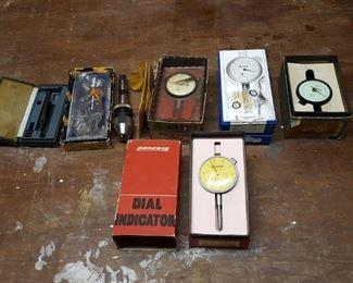 more tools (dial indicators and micrometer)