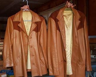 Custom made deer skin coats
