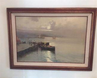 Vintage oil painting.