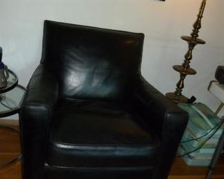 Nice Contemporary Black Leather Chair