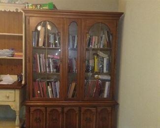 large cabinet  books