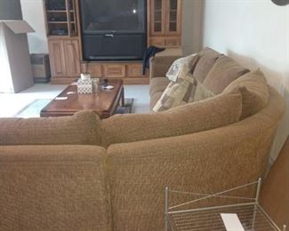 *NOTE ENTERTAINMENT CENTER NOT FOR SALE*** ONLY TV * Sectional* Coffee Table* Rack