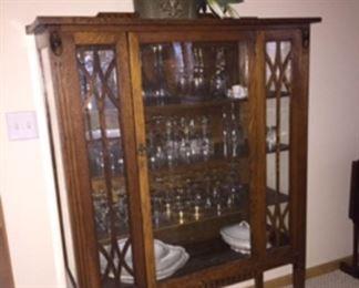 Exquisite antique curio with key