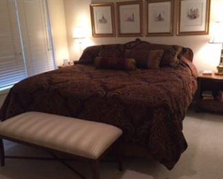 Low profile Davis Furniture king bed