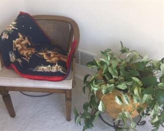 Needlepoint tree skirt, large planter