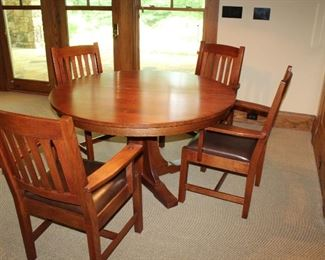 Stickley Table & Chairs Set