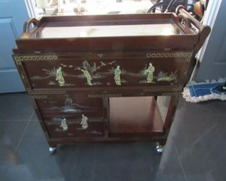 MOP Vintage Chinese Tea Cart