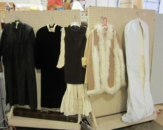 Assorted vintage clothing