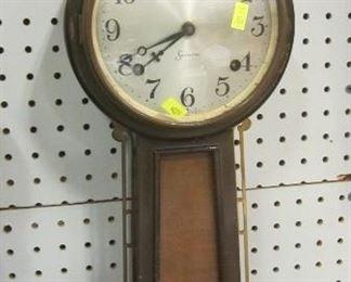 Antique key wind banjo clock