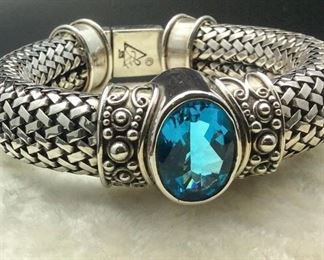 Sterling silver / blue topaz bracelet, 50% off