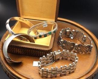 Sterling silver bracelets, 50% off