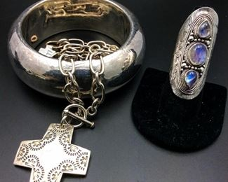 Sterling silver statement jewelry, 50% off