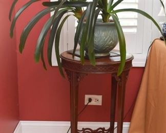 Vintage Round Side Table, House Plants