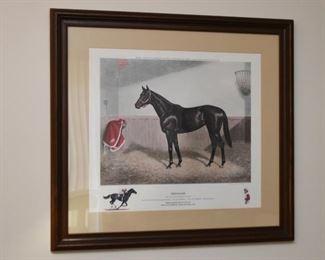 Framed Horse Racing Print (Ruffian), Signed